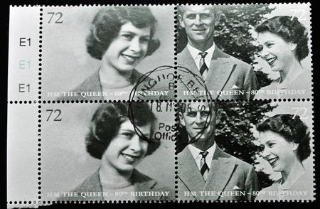 UNITED KINGDOM - CIRCA 2002: A stamp printed in United Kingdom shows Queen Elizabeth II, serie, circa 2002.