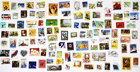 100 different stamps from around the world
