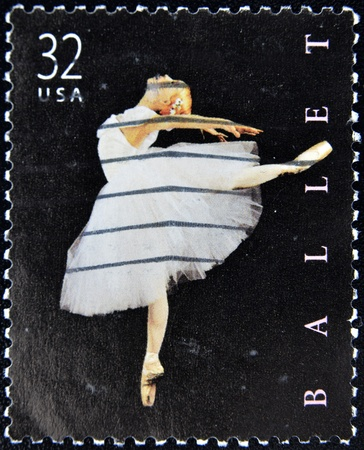 UNITED STATES OF AMERICA - CIRCA 1998: A stamp printed in United States of America shows American ballet , circa 1998 Stock Photo - 10659021