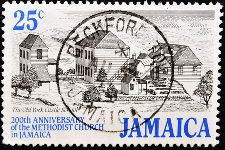 JAMAICA - CIRCA 1999: A stamp printed in Jamaica commemorating the 200th anniversary of the methodist church in Jamaica, circa 1999  Stock Photo - 10741388
