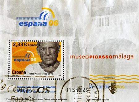 pablo: SPAGNA - CIRCA 2006: Un timbro stampato in Spagna mostra Pablo Picasso, circa 2006