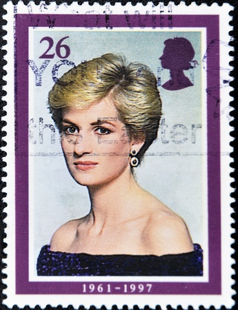 UNITED KINGDOM - CIRCA 1997: A stamp printed in the Great Britain shows Princess Diana, circa 1997  Stock Photo - 10741361
