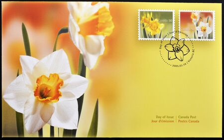 CANADA - CIRCA 2005: A stamp printed in Canada shows flowers, first day of issue, circa 2005 Stock Photo - 11015663