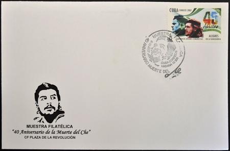 CUBA - CIRCA 2007: A stamp printed in Cuba shows Che Guevara and other guerrillas, circa 2007
