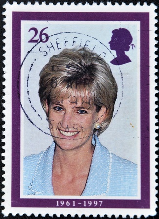 UNITED KINGDOM - CIRCA 1998: British Used Postage Stamp showing Diana, Princess of Wales, circa 1998  Stock Photo - 10958326