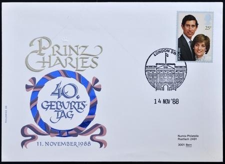 UNITED KINGDOM - CIRCA 1981: A British Used Postage Stamp celebrating the Royal Wedding of Prince Charles and Lady Diana Spencer, circa 1981 Stock Photo - 10958327