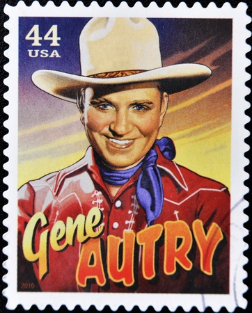 UNITED STATES OF AMERICA - CIRCA 2010: A stamp printed in USA shows Gene Autry, circa 2010