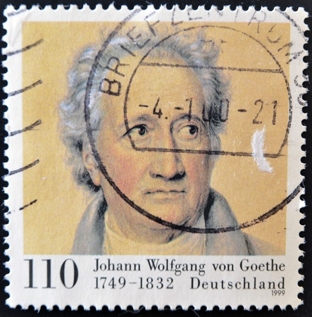 wolfgang: GERMANY - CIRCA 1999: stamp printed by Germany, shows Johann Wolfgang von Goethe, circa 1999.  Editorial