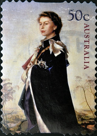 queen elizabeth: AUSTRALIA - CIRCA 2006: stamp printed by Australia, shows Queen Elizabeth II, circa 2006