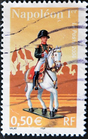 napoleon i: FRANCE - CIRCA 2004: A stamp printed in France shows Napoleon I, circa 2004