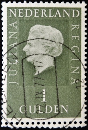 NETHERLANDS - CIRCA 1979: A stamp printed in the Holland shows image of Queen Juliana, circa 1979  Stock Photo - 11104208