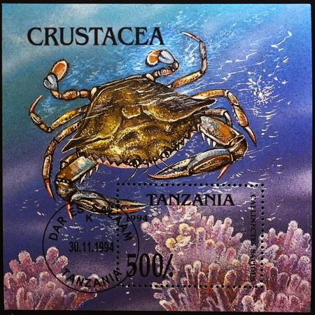TANZANIA - CIRCA 1994: A stamp printed in Tanzania shows a crustacean, circa 1994  photo