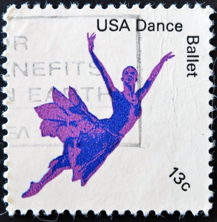 UNITED STATES OF AMERICA - CIRCA 1978: Stamp printed in USA shows American Ballet dance, circa 1978  Stock Photo - 11099014