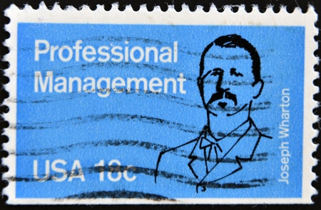 USA - CIRCA 1981 : A stamp printed in the USA shows Joseph Wharton, Professional Management, circa 1981  Stock Photo - 11090937