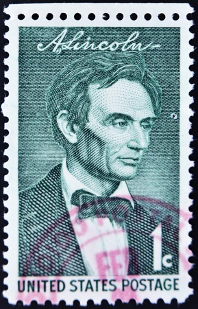 UNITED STATES - CIRCA 1958: stamp printed by United states, shows Lincoln, circa 1958 Stock Photo - 11071588