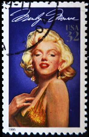 marilyn: UNITED STATES - CIRCA 1995: stamp printed by United states, shows Marilyn Monroe, circa 1995