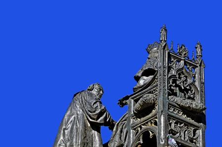 sculpture of Christopher Columbus photo