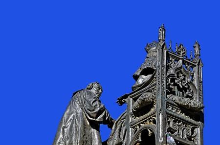 discoverer: sculpture of Christopher Columbus