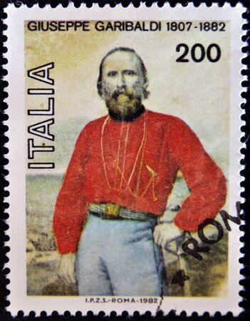 garibaldi: ITALY - CIRCA 1982: A stamp printed in Italy shows Garibladi, circa 1982