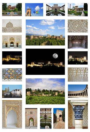 alhambra collage Stock Photo - 11277004