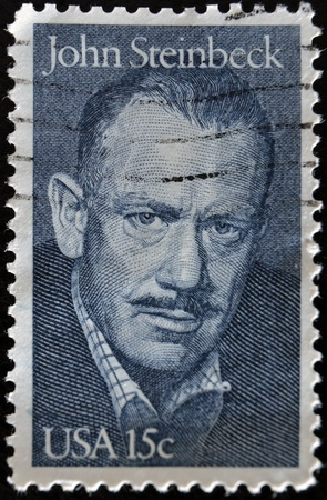 steinbeck: UNITED STATES - CIRCA 1979: A stamp printed by United states, shows John Steinbeck, circa 1979
