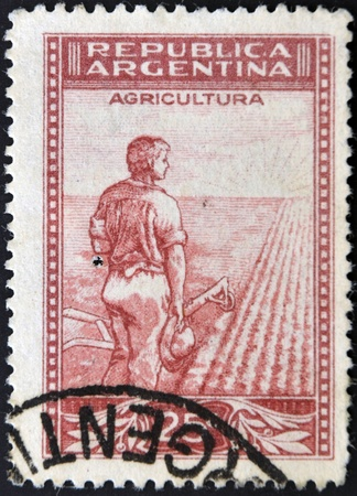 ARGENTINA - CIRCA 1938: A stamp printed in Argentina dedicated ti agriculture, circa 1938 photo