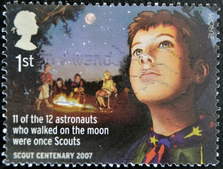 UNITED KINGDOM - CIRCA 2007: A stamp printed in Great Britain celebrating the centenary of the scout, circa 2007 Stock Photo - 12207184