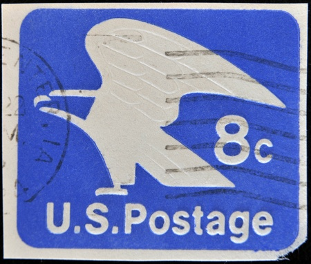 UNITED STATES OF AMERICA - CIRCA 1975: A stamp printed in USA shows American Eagle, circa 1975  Stock Photo - 12039672