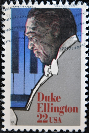 UNITED STATES OF AMERICA - CIRCA 1999 : stamp printed in USA shows Duke Ellington American composer, pianist, and big band leader, circa 1999  Stock Photo - 11805175