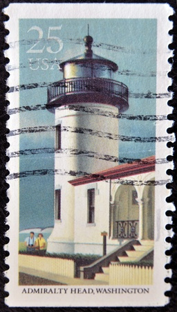 UNITED STATES - CIRCA 1990: stamp printed by United states, shows lighthouse, Admiralty Head, circa 1990 Stock Photo
