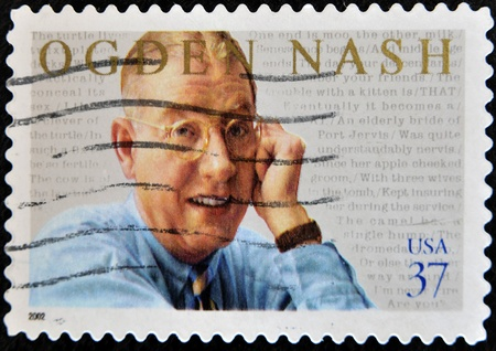 UNITED STATES OF AMERICA - CIRCA 2002 : stamp printed in USA show Ogden Nash, American poet, circa 2002  Stock Photo - 11438875