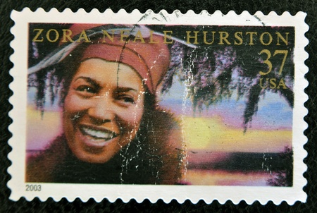 anthropologist: UNITED STATES OF AMERICA - CIRCA 2003: A stamp printed in USA shows zora neale hurston, circa 2003