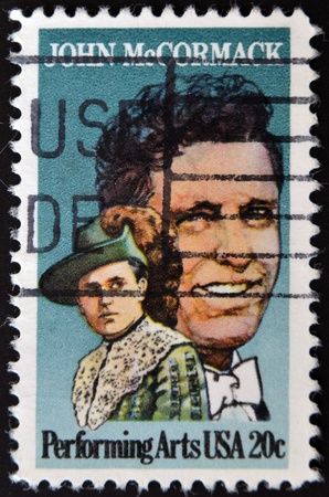 UNITED STATES OF AMERICA - CIRCA 1984: stamp printed by United states, shows John McCormack, circa 1984 Stock Photo - 11438957