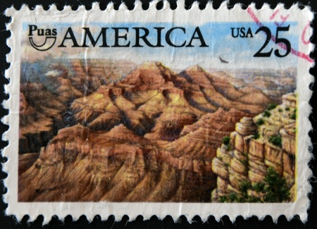 UNITED STATES OF AMERICA - CIRCA 1989: A stamp printed in USA showing Grand Canyon, circa 1989 photo