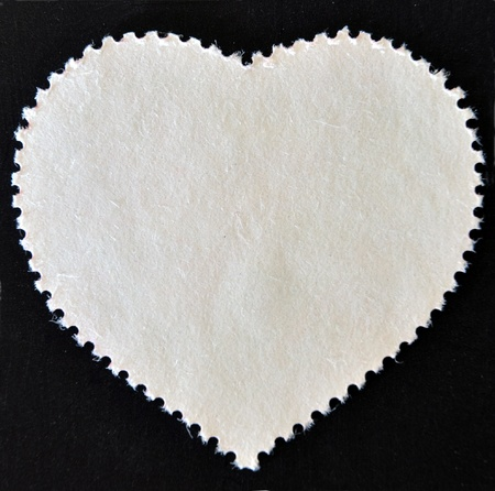 The reverse side of a postage stamp, Heart-shaped   photo