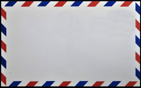 letter envelope: Old post envelope, background  Stock Photo