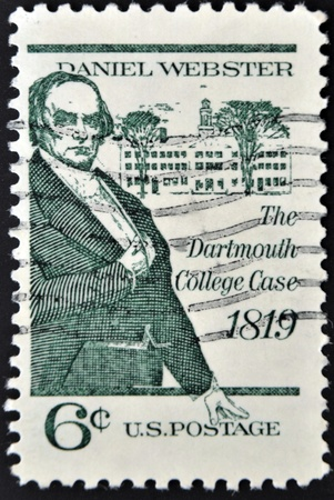 UNITED STATES - CIRCA 1969: stamp printed by United states, shows Daniel Webster, circa 1969  Stock Photo - 11439019
