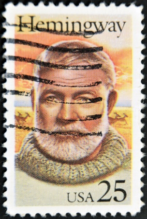 ernest: USA - CIRCA 1994: stamp printed in USA show shows Ernest Hemingway, circa 1994
