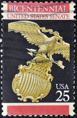UNITED STATES OF AMERICA - CIRCA 1989: A stamp printed in USA dedicated to senate, circa 1989  photo