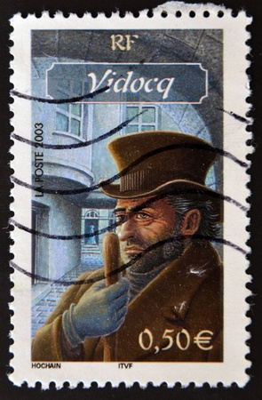 FRANCE - CIRCA 2003: A stamp printed in France shows Vidocq, circa 2003 Stock Photo - 11439140