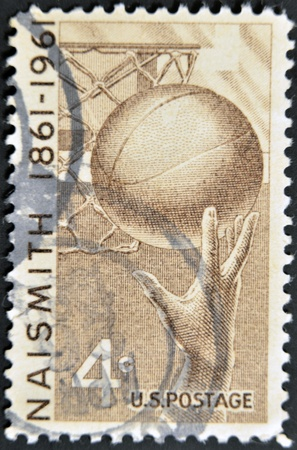 UNITED STATES - CIRCA 1961: stamp printed in United states, shows Basketball, circa 1961  photo