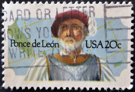 UNITED STATES - CIRCA 1982: stamp printed by United states, shows Ponce de Leon, circa 1982
