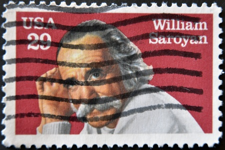 UNITED STATES - CIRCA 1991: stamp printed by United states, shows William Saroyan, circa 1991  Stock Photo - 11581947