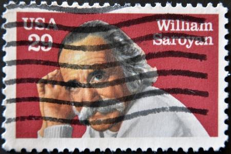 UNITED STATES - CIRCA 1991: stamp printed by United states, shows William Saroyan, circa 1991  Stock Photo - 11581947