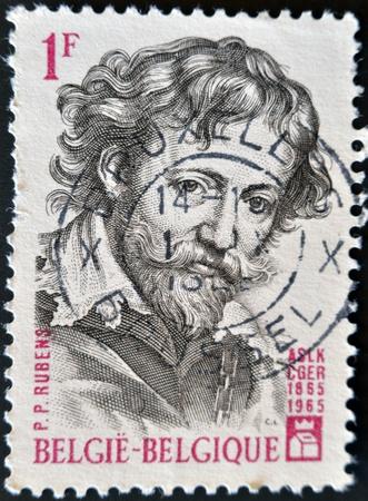 BELGIUM - CIRCA 1965: A stamp pritned in Belgium shows Rubens, circa 1965 Stock Photo - 11582057