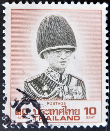 THAILAND - CIRCA 1970: A stamp printed in Thailand shows image of King Bhumibol Adulyadej,  circa 1970 Stock Photo - 11582034