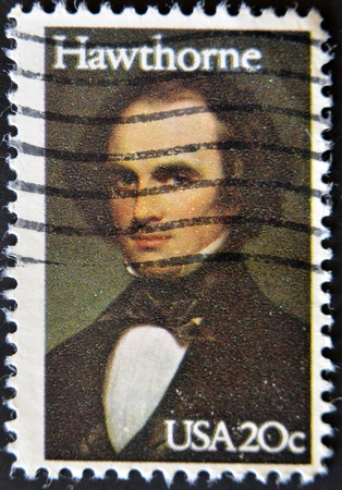 hawthorne: UNITED STATES - CIRCA 1983: a stamp printed in USA shows Hawthorne, circa 1983
