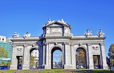 Puerta de Alcala. Alcala gate in Madrid, Spain  photo