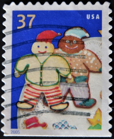 UNITED STATES - CIRCA 2005: A stamp printed in USA, shows cookie elves, circa 2005  photo