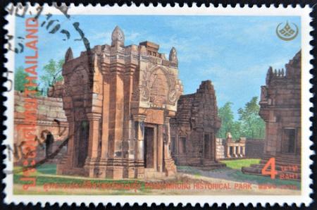 THAILAND - CIRCA 1998: A stamp printed in Thailand shows image of Phanomrung historical park, circa 1998 Stock Photo - 11804014